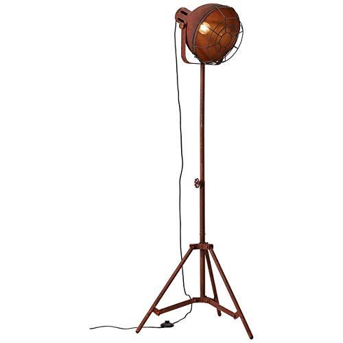 BRILLIANT lamp Jesper vloerlamp 39cm rooster roestkleurig |1x A60, E27, 60W, geschikt voor standaardlampen (niet inbegrepen) |Schaal A ++ tot E |Met voetschakelaar
