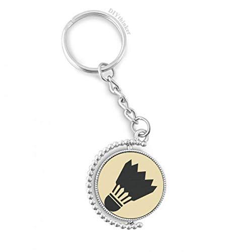 DIYthinker Badminton Sport Einfache Geometrie Muster Drehbare Schlüsselanhänger Ringe 1.2 Zoll x 3.5 Zoll Mehrfarbig