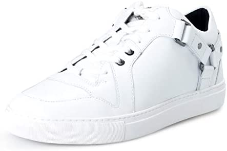 Versace Collection Men s White Leather Fashion Sneakers Shoes Sz US 8 IT 41 product image