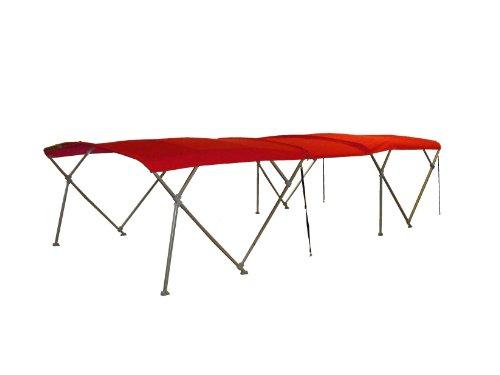 Buy Bargain NorthStar Pontoon Boat Double Bimini Top 18' Long Sunbrella (Logo Red)