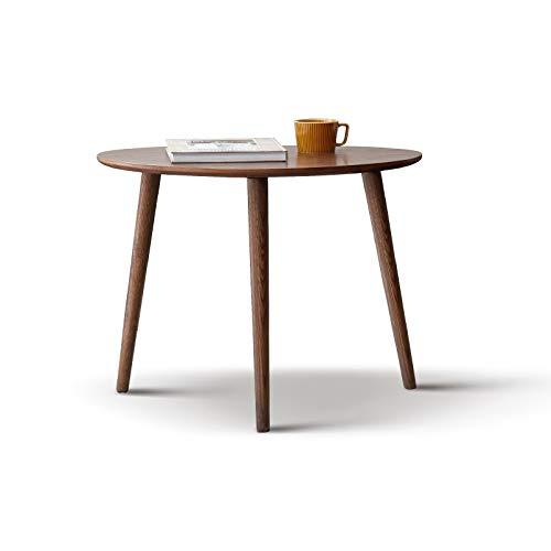Z-GJM massief hout kleine salontafel moderne minimalistische eiken hoek ronde tafel kleine appartement woonkamer bank zijtafel de slanke ronde ontwerp helpt om de perfecte combinatie overal te bereiken A