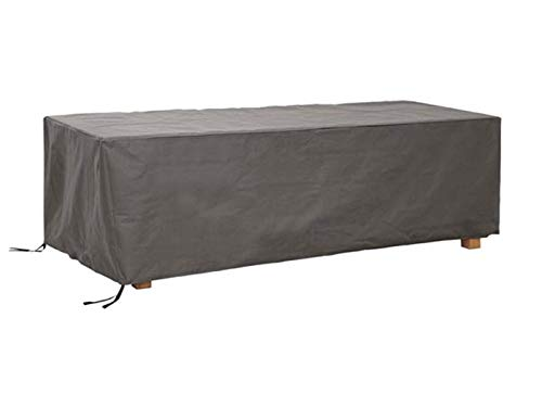 Perel Garden oct180 Housse de Protection pour Table de Jardin de Maximum 180 cm, Anthracite, 185 x 105 x 75 cm
