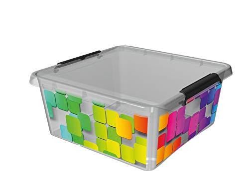 transparent 0,5 Liter-15 x 9,5 x 6,5cm 18 x ORPLAST SimpleStore Box mit Clips