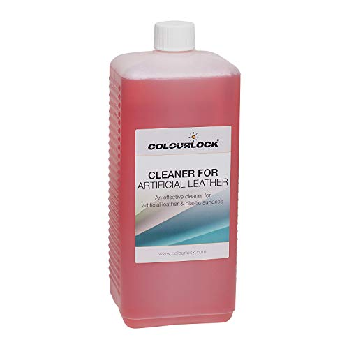 Colourlock Faux Leather Cleaner to clean artificial fake synthetic leather, leatherette, pleather, vinyl couches sofas furniture, car seats, clothing (1 Litre)