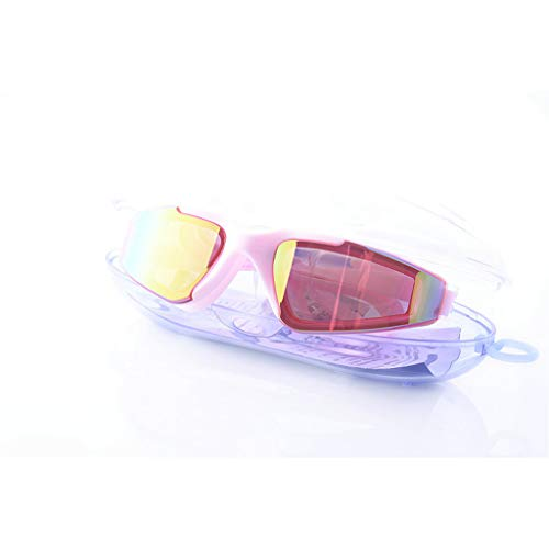 BAOFI Adult Kids Swimming Glasses, Anti Fog Shatterproof UV Protection Best Swim Goggles No Leaking, Suit for Men Women Youth, HD Lens Efficient Leakproof Silica Gel Mirror Circle,KidsPink