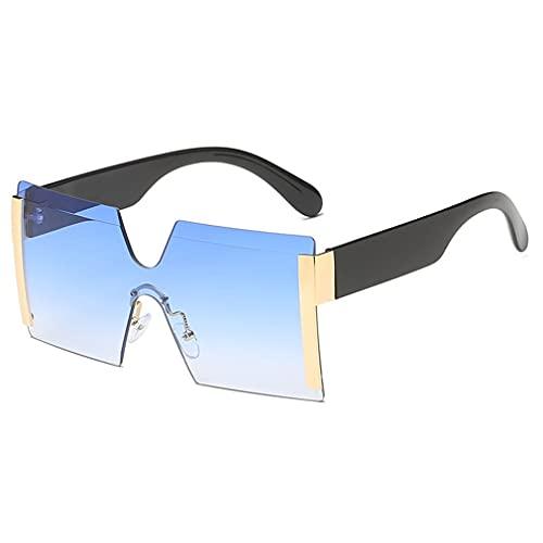 Lente integrada Gafas de Sol al Aire Libre sin Marco Gafas de Sol Personalizadas con Montura Grande de Moda para Hombres y Mujeres