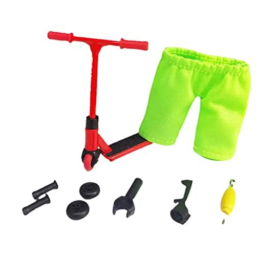 Juego de mini juguetes para dedos, juego de scooter para dedos con mini scooters, herramientas y accesorios para tableros de dedos Grip & Tricks Tableros de dedos para entrenamiento con los dedos