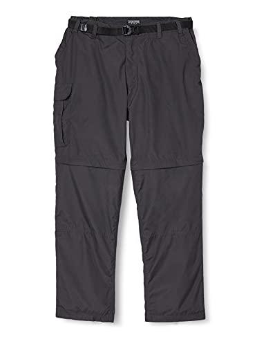 Craghoppers - Pantalones Pantalones Convertibles Modelo Kiwi para Hombre (86cm - S) (Pimienta Negra)
