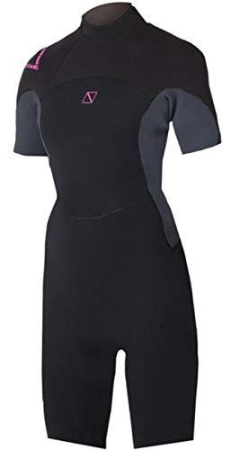 Magic Marine Traje de Neopreno Shorty Pink de 3 / 2mm para Mujer Estiramiento fácil - Costuras Planas