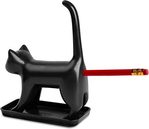 Splash Brands 8034-1 Bleistiftanspitzer Miauende Katze mit So&s, schwarz