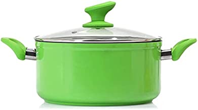 Frying pan Induction Cooker General Purpose Soup Pot Flat Non-stick Pan Binaural Hot Milk Pot Cooking Noodle Pot (Color : ...