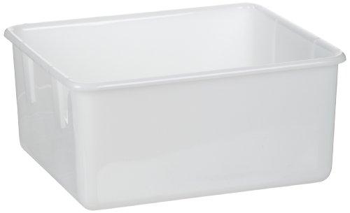 Dynalon 410565 Weißes Labor-Tablett/Tragetasche, 38,1 cm Länge x 33 cm Breite x 19,8 cm Höhe, 6 Stück