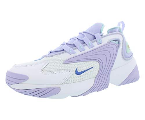 Nike Damen WMNS Zoom 2k Leichtathletikschuhe, Mehrfarbig (White/Sapphire/Oxygen Purple/Teal Tint 000), 36.5 EU