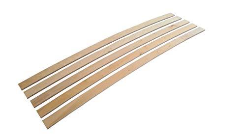 Coemo Set 5 STK Ersatz Federholzleisten Ersatzleisten Lattenrost Ersatzteile, Größe:990 x 25 x 8