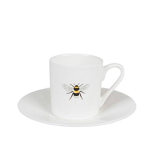 Sophie Willard Allport Tasse à espresso et soucoupe – abeilles Motif