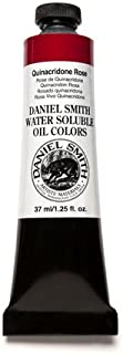 DANIEL SMITH 284390036 Water Soluble Oils Paint Tube, 37 ml, Quinacridone Rose