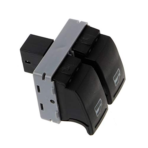 7E09598555 Botón de Control de Ventanas Interruptor de Elevador de Ventana de Coche eléctrico/Ajuste para VW Transporter T5 T6 Nuevo envío de Gota Accesorios de Coche (Color : Black)