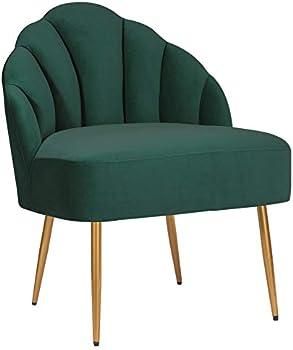 Amazon Brand Rivet Sheena Glam Tufted Velvet Shell Chair
