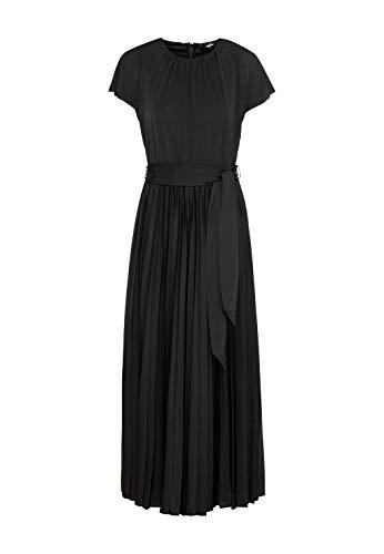HALLHUBER Plisseekleid aus Jersey weit schwingender Saum schwarz, S
