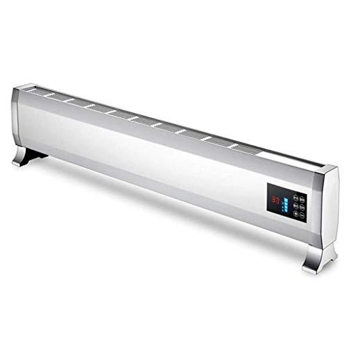 HYY-YY Calefactor de zócalo con control remoto, calentador táctil de calefacción con temporizador, ahorro de energía para el hogar con función de corte térmico de seguridad calentadores convectores
