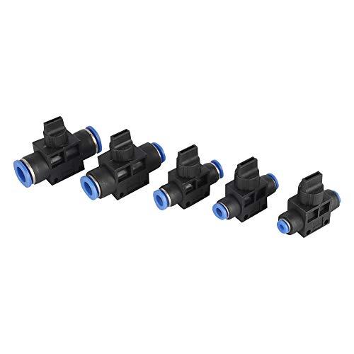 Adhere To Fly Pneumatisches Steuerventil Pneumatisches Absperrventil Luftschneller Luftröhrenanschluss für Gas-Wasser-Vakuum 10 Stück (6mm)