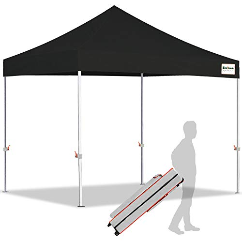 EliteShade 10'x10' Ez Pop Up Canopy Tent Commercial Instant Canopies with Heavy Duty Roller...