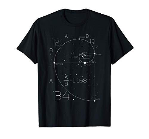 SPAZIO MATEMATICA - SCIENZA della sezione aurea e i pianeti Maglietta