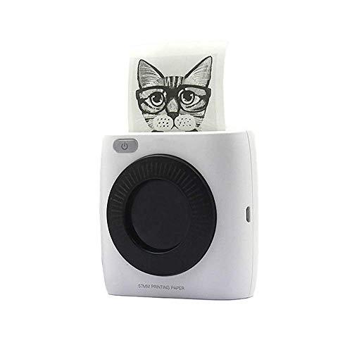 ZUEN Perfekter Portable Mini Bluetooth-Drucker Mit Matt Strukturierten Texterkennung Papier, Praktischen Bluetooth Thermodrucker Für Android/Ios, Fotodrucker