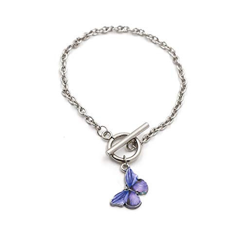 guodong European and American Cross-Border E-Commerce Wish Butterfly Bracelet Pendant Female Fashion Wrist Jewelry Ot Buckle Retro Style Bracelet