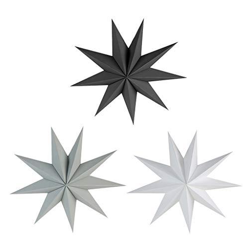 joyMerit 3X Papierstern Hängesterne Faltsterne Dekosterne, Einfache Montage und Wiederverwendbar aus Papier