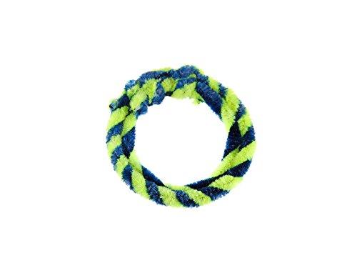 FEZ Nabenputzringe Blau/Neongelb (Set 1x 25cm + 1x 30cm für Fahrrad)