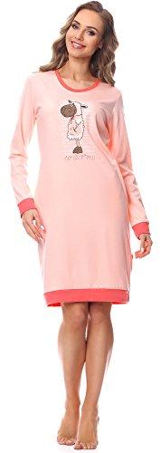 Cornette Damen Nachthemd 652 2016 (Rosa-23, XXL)