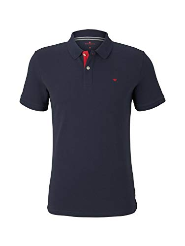 TOM TAILOR Herren Poloshirts Basic Poloshirt Sky Captain Blue,XXXL