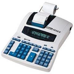 Rexel Ibico 1232X professionele bureaurekenmachine, zwart/blauw, met digitaal display
