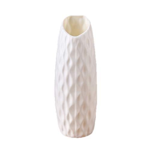 JSFGFSDH Nordic Origami - Jarrón de plástico de cerámica de imitación