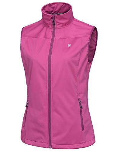 Little Donkey Andy Women's Lightweight Softshell Vest, Windproof Sleeveless Jacket for Running Hiking Travel, Rose S