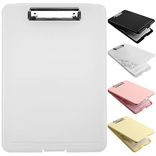 shuram クリップボード a4 クリップファイル A4 バインダー?a4 多機能 ファイルボード ライティングパッド 二つ折り スケッチボード 防水タイプ 書類ケース メモ帳用 フォルダ ファイル プラスチックケース ノートカバー ワードパッド 事務用