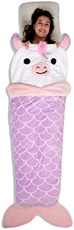 Gilbins Plush Ultra-Soft Fleece Snuggle-in Sleeping Bag Blanket for Lounging On The Couch Latte