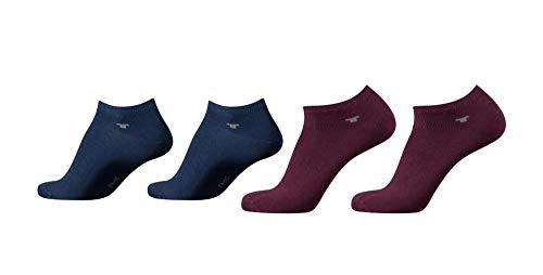 TOM TAILOR Sneaker Socken Herren Damen 4 Paar unisex Sportsocken 35-38 39-42 43-46 (wine, 35/38)