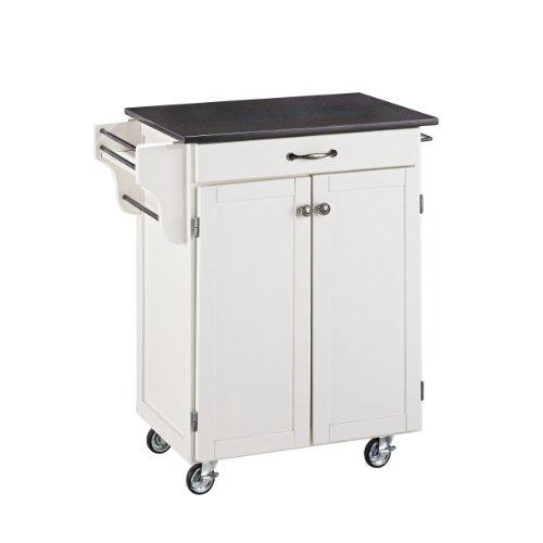 Home Styles Create-a-cart Küchenwagen mit schwarzer Granitplatte, Holz, Weiß, 32.5x18.75x36-in