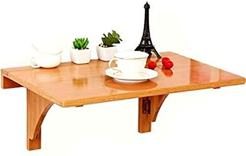 DZCGTP Mesa Plegable montada en la Pared, Mesa de bambú, Mesa de Comedor de Cocina, Mesa pequeña para computadora, Escritorio para niños, Carga máxima 50 kg / 110 Libras