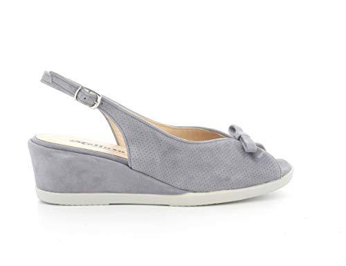 Melluso Sandalo Donna g300a in camoscio Jeans con Sottopiede in Memory Foam 40