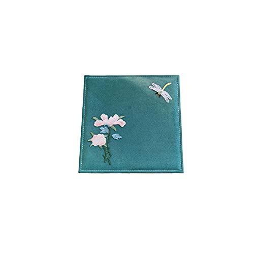 Caja de joyería, Caja de almacenamiento de joyas para adornos para orejas   Cadenas de barba   Anillos   Adornos de la cabeza   Adornos de mano   Relojes de madera-Tinta