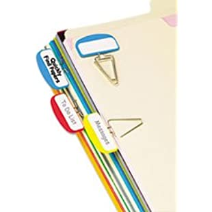 - PileSmart Label Clip File Organizers, Blue/Red/Yellow, 12/Pack