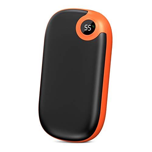 A ADDTOP Scaldamani Ricaricabile 10000mAh USB Scaldamani Tascabile Riutilizzabile Scaldamani Elettrico con Display a LED per Sci, Campeggio, Escursionismo, Regali e Molto Altro