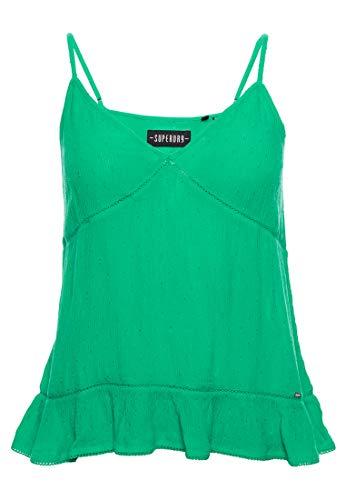 Superdry Damen Summer LACE CAMI TOP Hemd, Grün (Pepper Green Y3Y), M (Herstellergröße:12)