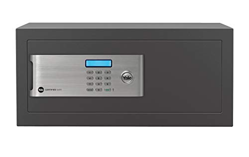 Yale YLM/200/EG1 Certified Laptop Safe, Insurance Approved, 22 mm Motorised Locking Bolts, LCD Screen, 24 Litre Capacity