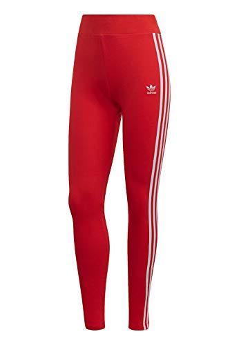 adidas Damen 3 Str Tight, rot (lush red/White), 34