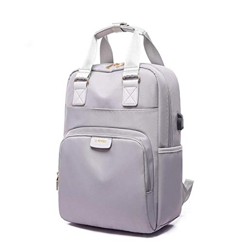 Waterproof Laptop Backpack Female Pink USB 14 16 Inch Back Pack Computer Bag Oxford Cloth School Bag for Teens