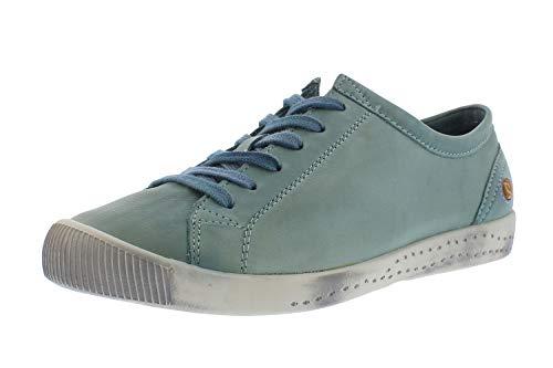 Softinos Damen Sneakers ISLA, Frauen,Low-Top Sneaker,lose Einlage,straßenschuhe,Freizeitschuhe,schnürschuhe,schnürer,Blau (Diesel),40 EU / 6.5 UK